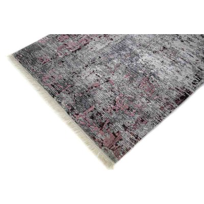 Rug with digital print, copper with silver
