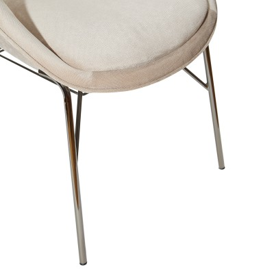Dining chair with metal legs - City
