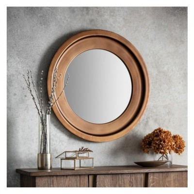The ideal mirror for a bedroom, or hang it on a feature wall in a living space for maximum impact. Dimensions 870x40xH870mm