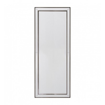 A stylish wall mirror with beaded edge detailing and a bevelled center mirror.  Dimensions 650x25x1540mm