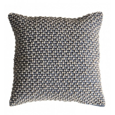 Beautifully tactile cushion with pom pom textured face in slate grey.  Dimensions 450x450mm