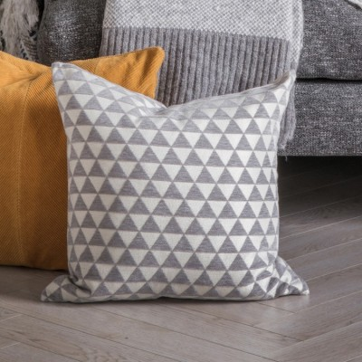 Bring a sense of timeless style to your sofa or armchair with the Jacquard Triangles cushion. Dimensions 450x450mm