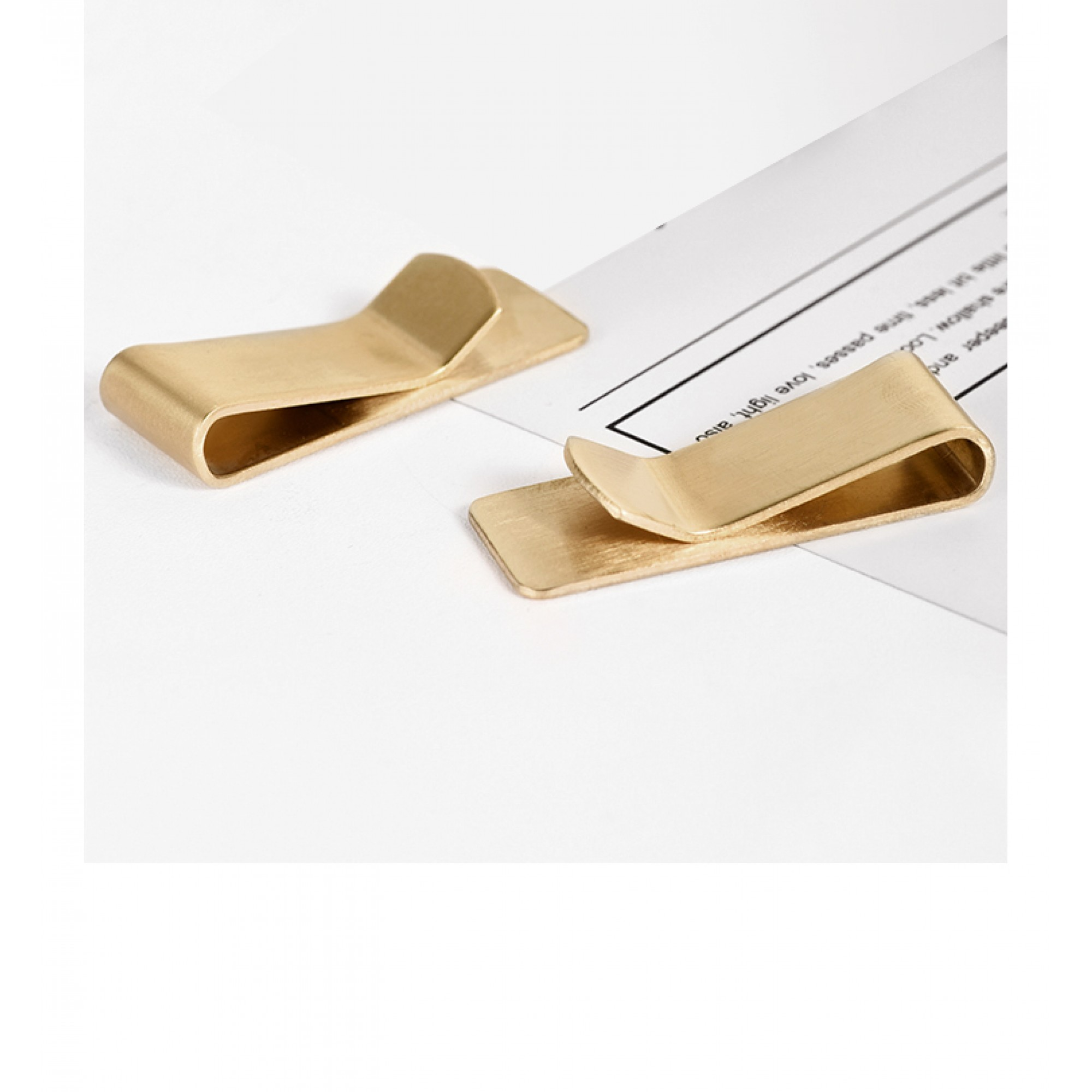 Brass banknote clamp - DAX