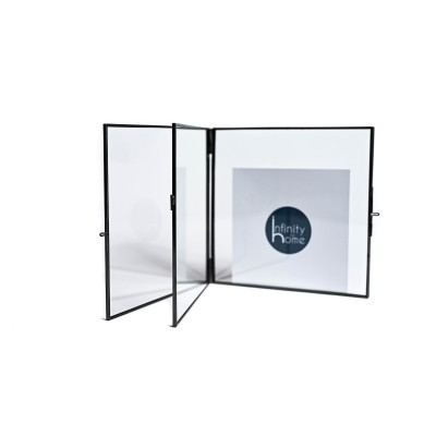 Photo frame with antique chrome structure, 8.9 x 12.7 cm - BOOK