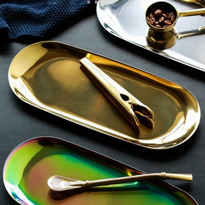 Gold Stainless steel tray, L - Alder