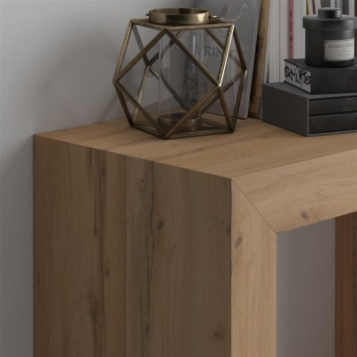 Angelica Extendable Console Table, Rustic Wood