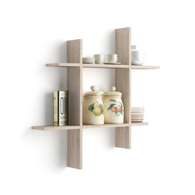 Set of 2 shelves, in the shape of #.
