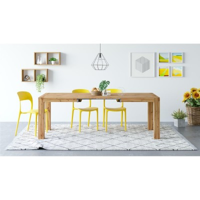 Iacopo Modern Extendable Table, Rustic Wood