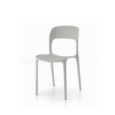 Polypropylene and stackable chair.