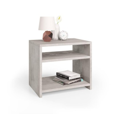 Simple and modern bedside table with spacious storage compartments.