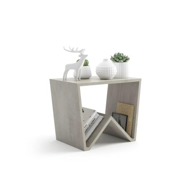 The EMMA coffee table is made entirely of gray melamine wood and fits in any room.