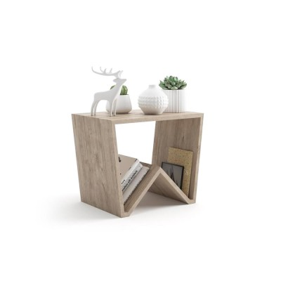 The EMMA coffee table is made entirely of melamine oak and fits in any room.