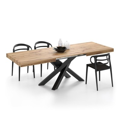 Extendable table from 160 cm to 240 cm.