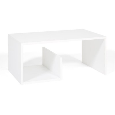 """Melamine oak coffee table with a special """"snake"""" shape is a practical and versatile solution for your living room, excellent space for magazines or books under the top."""