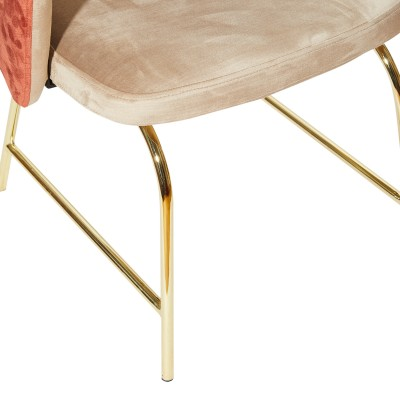Chair with metal structure, fully upholstered in velvet - APEX