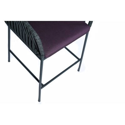 Bar chair with metal structure, fully upholstered in waterproof fabric - DREAM BAR