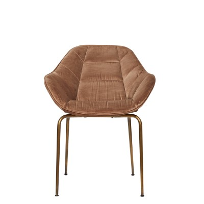 Chair with metal structure, upholstered - NONA