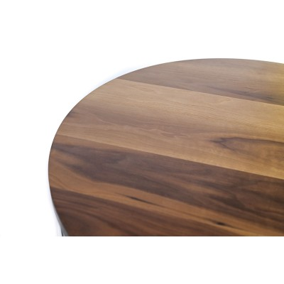 Coffee table with metal structure and solid walnut wood top - LAVISH