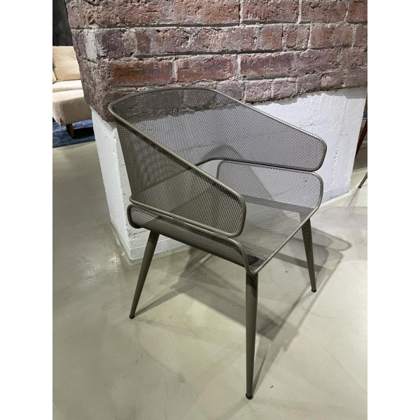 Outdoor chair with cappuccino metal structure - COMO