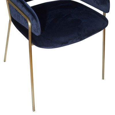 Chair with metal structure, upholstered in velvet - TWESSA