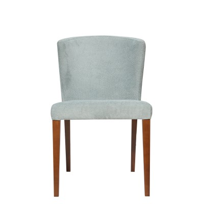 Dining chair with wooden legs, upholstered - DJ