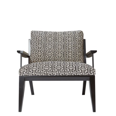 Armchair with wooden handles and legs - EGE BERGER