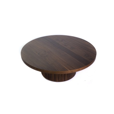 Coffee table with walnut leg and countertop, L - MUDO COFFEE