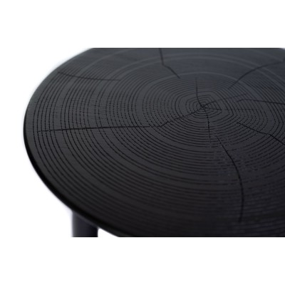 Wooden side table, black - MOON