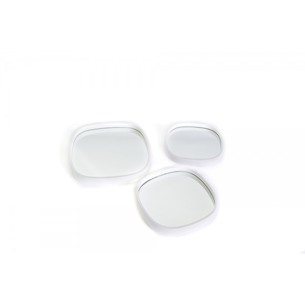 Set of 3 oval mirrors with white frame - OVAL