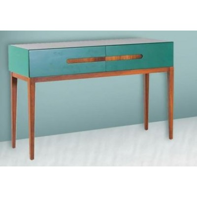 Slideboard of drawers with beech legs and MDF top - ANGEL