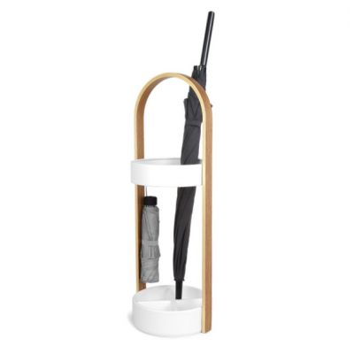 White metal support and oak handle for umbrella - BELLWOOD