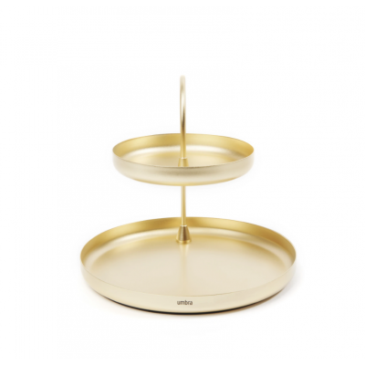 Decorative brass tray on two levels - POISE