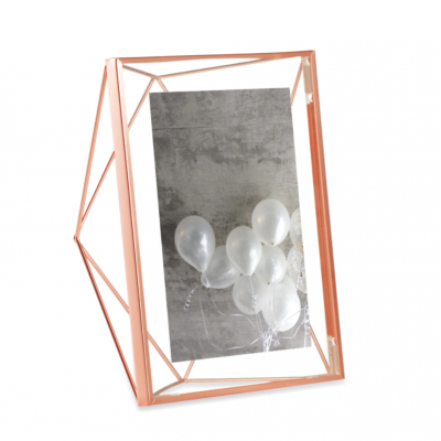 Photo frame with copper metal structure - PRISMA