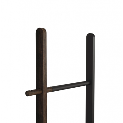 Extendable ladder, made of walnut wood and black metal - HUB