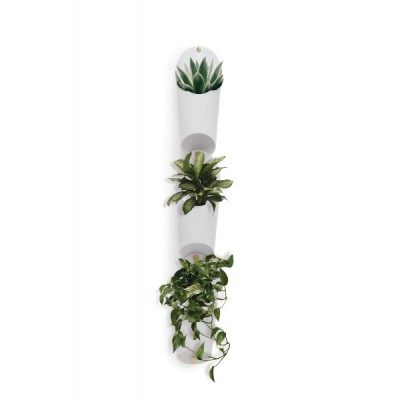 Set of 3 supports, made of white pots - FLORALINK