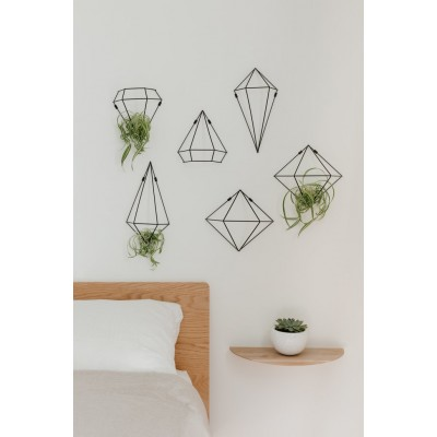 Wall decoration with black metal structure - PRISMA