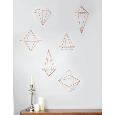 Wall decoration with copper structure - PRISMA