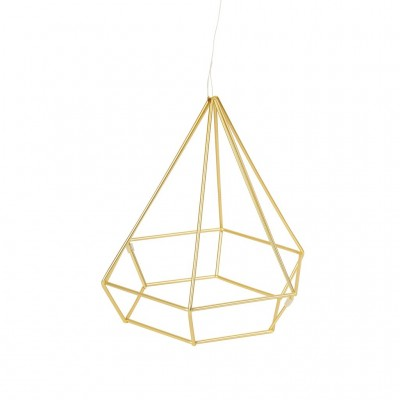 Wall decoration with brass structure - PRISMA