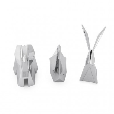 Set of 3 chrome supports for rings - ORIGAMI