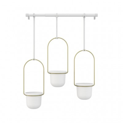 Suspended planter with adjustable cables - TRIFLORA